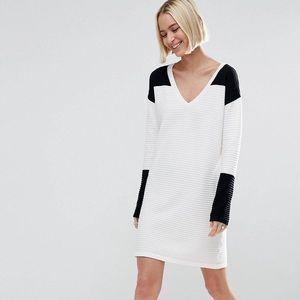 ASOSSweater Dress in Mono Color Block